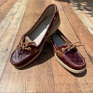 Sperry Leather Anchor Embossed Angelfish Topsiders